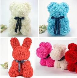 Мишки из роз 3D (зайцы, собаки)
