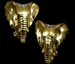 Золотые серьги  20020