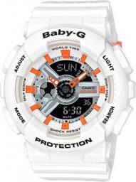 Японские наручные  женские часы Casio BA-110PP-7A2. Коллекция Baby-G