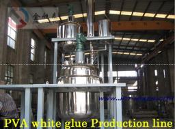 Линия для производства белая клея (PVA) содержать реценпта и техническа