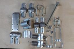 Узлы крепления для стойлового оборудования (крепление под углом 90 градусов
