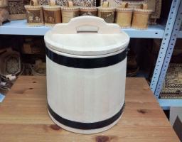 Кадка деревянная из кедра для засолки 15 литров