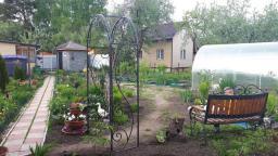 Кованая арка в сад