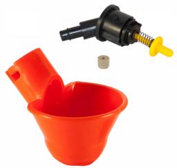 Поилка микрочашечная ПП-01-01 с рез.клапаном (без гребешка)