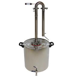 Ректификационная колонна, дистиллятор Уралец Премиум 45 литров (самогонный аппарат)