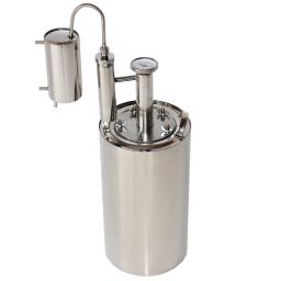 Дистиллятор бытовой, самогонный аппарат Уралец 15-1 л. (Царга,Сухопарник,Охлодитель)