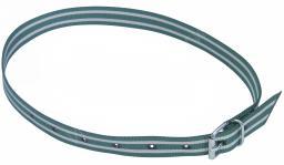 Маркировочный ошейник с ременной застежкой, 40 мм, 135 см,зелено-белый