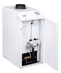 Напольный газовый котел Очаг КСГВ-12 (СП) с горячим водоснабжением