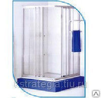 Душевая перегородка 770*770*1750 мм 4 стенки пластик