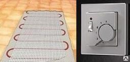 Нагревательный мат двухжильный теплого пола 0,5 кв.м под плитку
