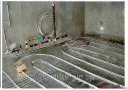 Водяные теплые полы из эффективных гибких нержавеющих труб 15 мм