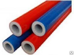 Утеплитель для труб 35/9*2 метра с красным полиэтиленом