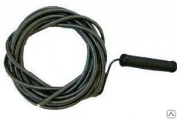 Трос сантехнический для прочистки труб, диаметр-6mm, длина 10 метров