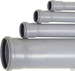 Труба канализационная пластиковая 110 мм длиной 2 метра, внутренняя