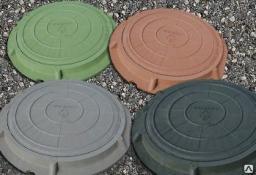 Люк полимерный 3 тн канализационный садовый
