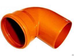 Отвод канализационный 110-90˚ пластиковый, рыжый, стенка 3,2мм