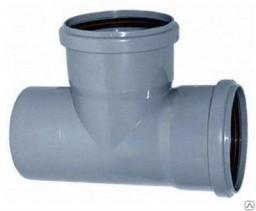 Канализационный тройник 110-90˚ для труб канализационных