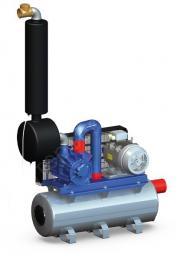 Установка вакуумная 3300 НР10 с ресивером 110л GPV3300 (Италия)