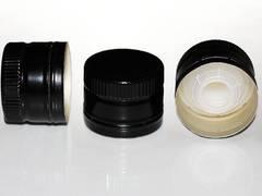 Колпачок алюминиевый (31,5*60) черный  с дозатором
