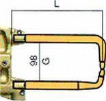 Комплект плеч с возд. охл.L=330мм,D=18мм TECNA 5024