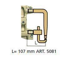 Комплект плеч с возд. охл.L=107мм,D=18мм - TECNA 5081