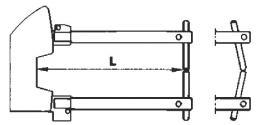 Комплект плеч 350мм с электродами 10мм TECNA 7503