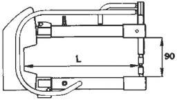 Комплект плеч 350мм с водяным охлаждением TECNA 7514