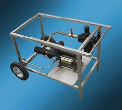 Мобильная гидростанция Test Pac 600 SS Haskel для гидроиспытаний, опрессовки, подачи жидкостей под давлением. Англия