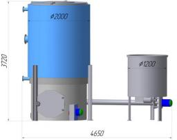 Продам котел водогрейный КВ-Ва-08 Котел водогрейный стальной КВ-Ва-08 с механизированной подачей топлива в топку.