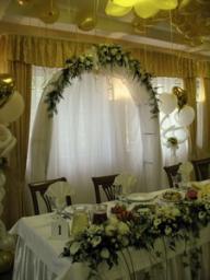 Оформление цветами для свадьбы