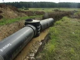 Колодцы и трубы из полиэтилена для канализации