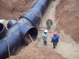 Трубы, фитинги, колодцы для канализации