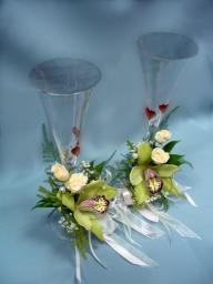 Бокалы с орхидеями, 550р за один бокал