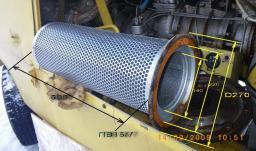 Маслоотделитель (сепаратор) для компрессора ПВ10, НВ10/8М2, НВЭ, ЗИФ ПВ6, ЗИФ ПВ8
