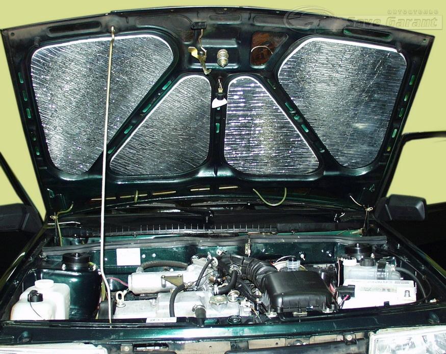 Шумоизоляция капота авто