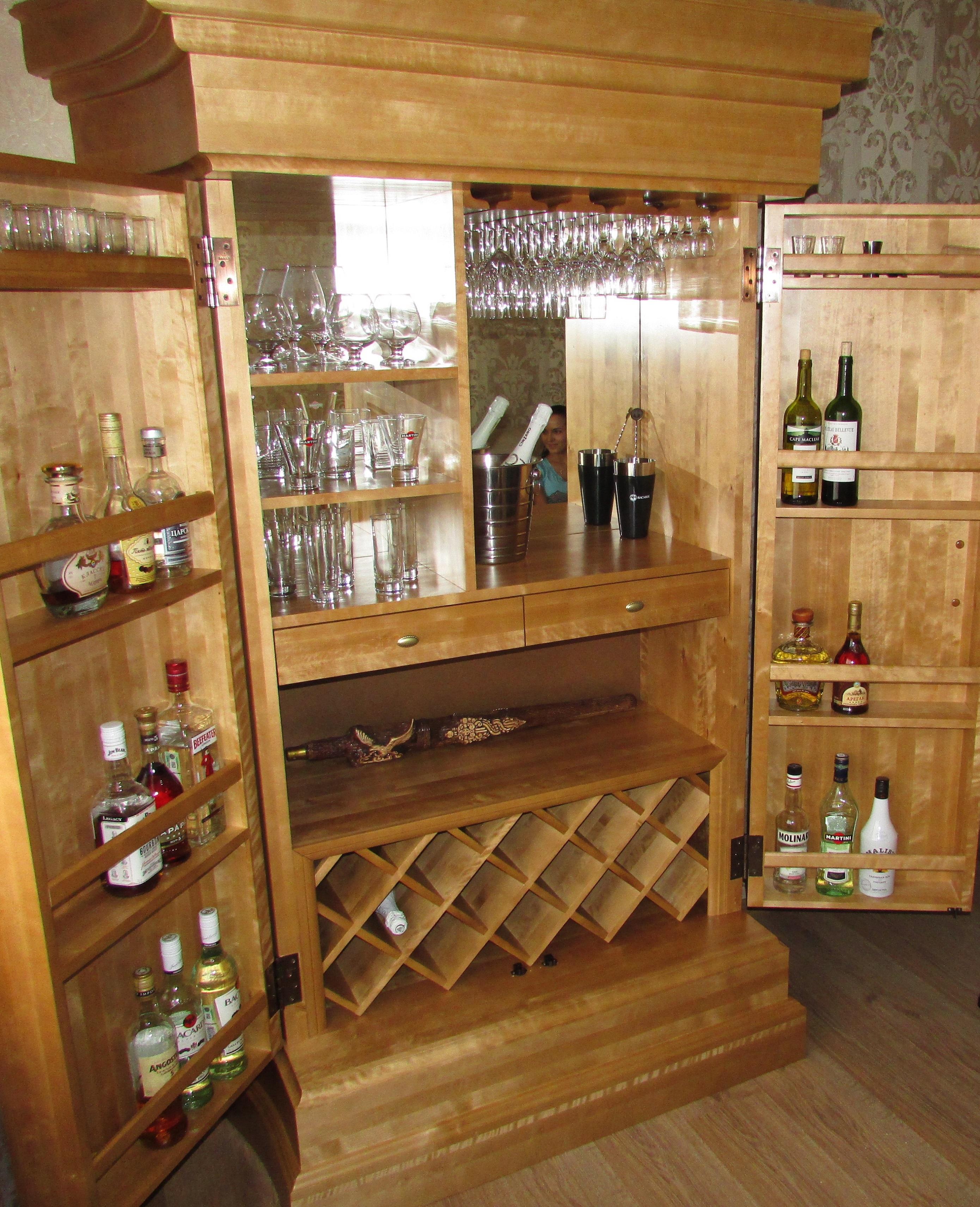 """Шкаф-бар из берёзы. мебель деревянная. - купить в компании """"."""