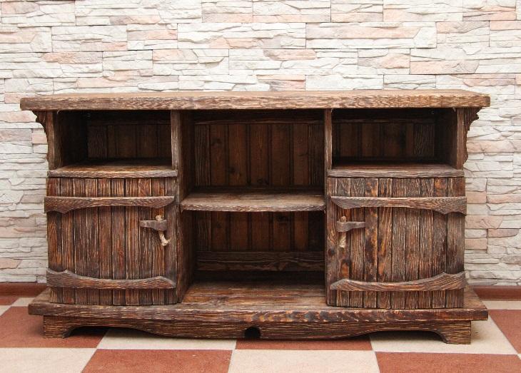 Мебель из брашированной древесины
