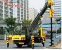 Продается КМУ с буровой установкой JunJin SA040С на базе грузовой машины Daewoo Novus Royal
