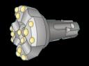 Коронка для пневмоударника К-110 (шлиц, байонет)