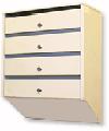 Ящик почтовый абонентский металлический ПЯ-05 Базис, 5 секций