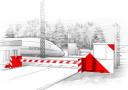 Противотаранное устройство шлагбаумного типа ПТУ-7,5 для ж/д переездов