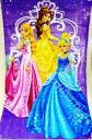 Детское махровое полотенце *Принцессы * 50*90