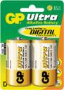 Батарейка, аккумулятор и зарядное устройство GP Ultra Plus Alkaline D 2шт