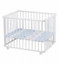 Детский манеж кроватка Lucy белый