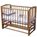 Детская кроватка Можга Кристина С-619 продольный маятник цвет красно-коричневый