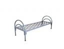 Кровать металлическая одноярусная, сетка прокатная пружина