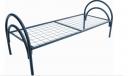 Кровать металлическая одноярусная усиленная, сетка сварная 100х100мм (1 перемычка)