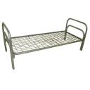 Кровать металлическая одноярусная сетка сварная 100х100мм