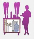 Оборудование для продажи газ.воды, лимонадов, сока и морса на 6 колб