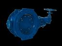 Затвор поворотный фланцевый DN150 PN10, AV-5010, двуэкцентричный, Valvotubi